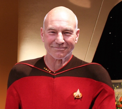 A knight at night: Sir Patrick Stewart